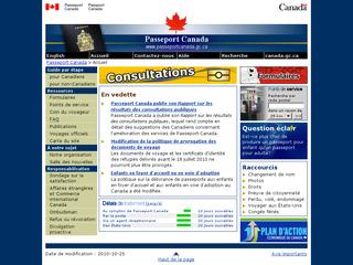 Formalités de Passeport de Canada avec www.ppt.gc.ca